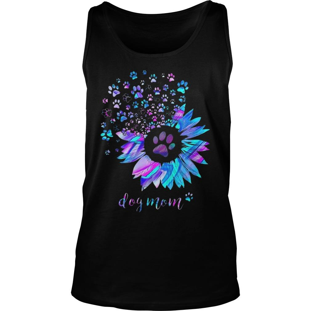 Sunflower Dog Paws Dog Mom Tank Top