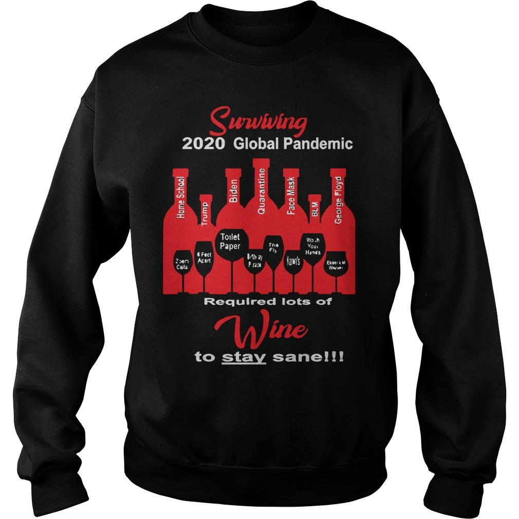 Surviving 2020 Global Pandemic Required Lots Of Wine To Stay Sane Sweater