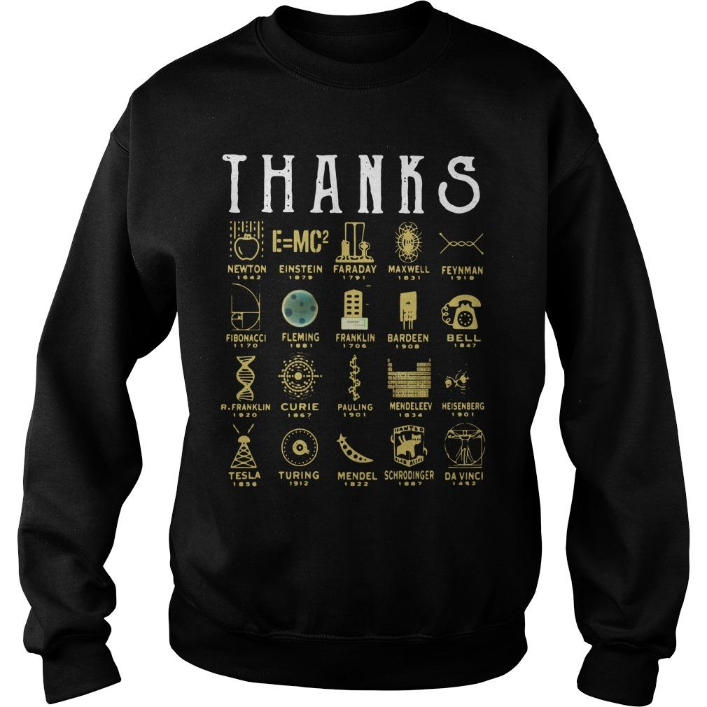 Thank Science Newton Einstein Faraday Maxwell Feynman Sweater