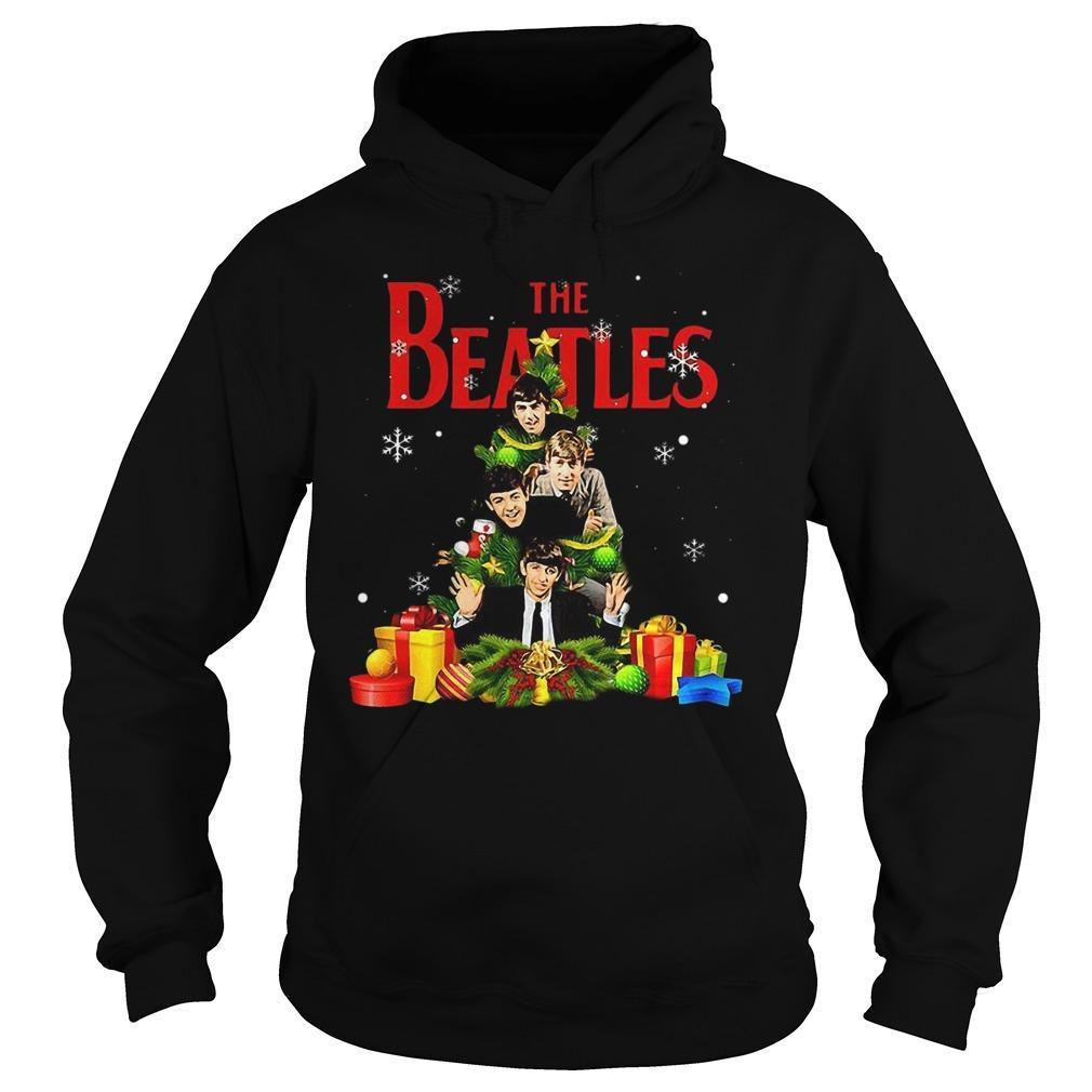 The Beatles Christmas Tree Hoodie