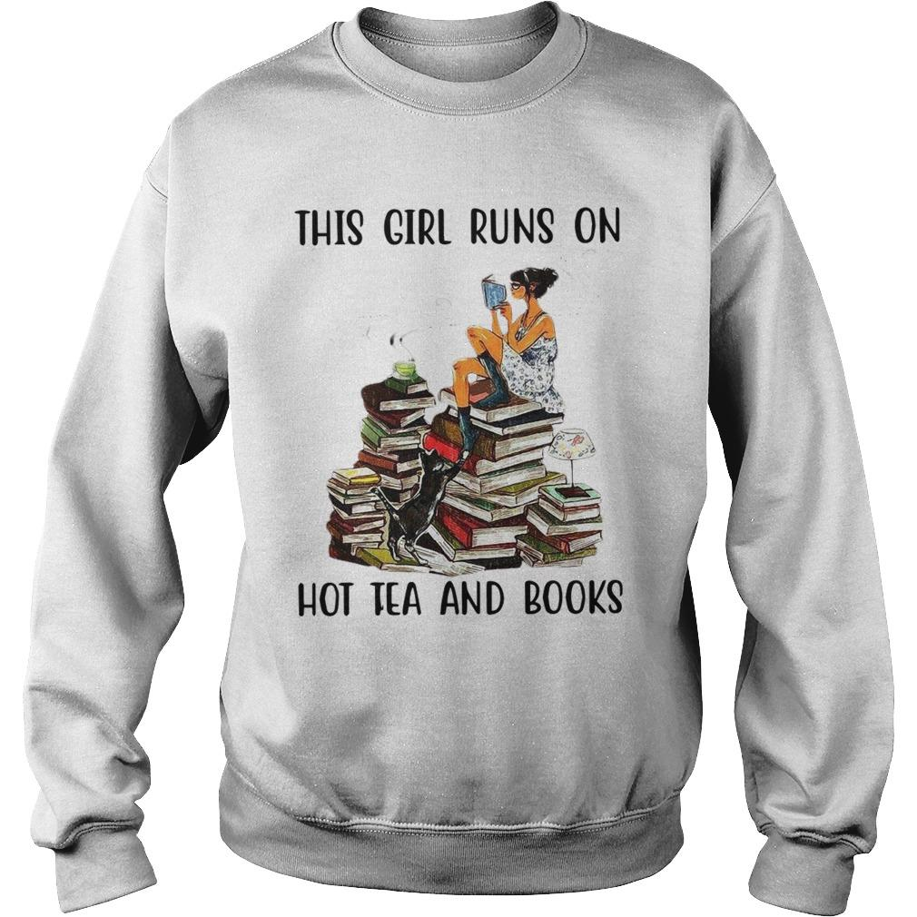 This Girl Runs On Hot Tea And Books Sweater