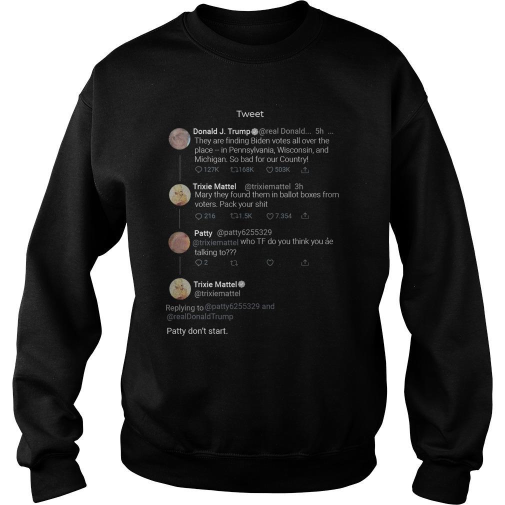 Trixie Mattel Tweet Donald Trump Party Don't Start Sweater