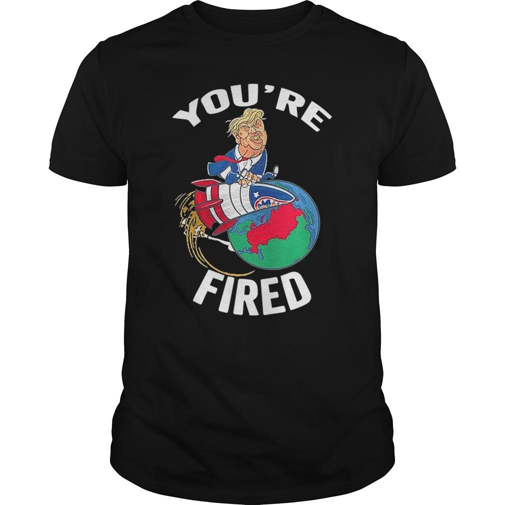 Trump Rocket Earth You're Fired Longsleeve