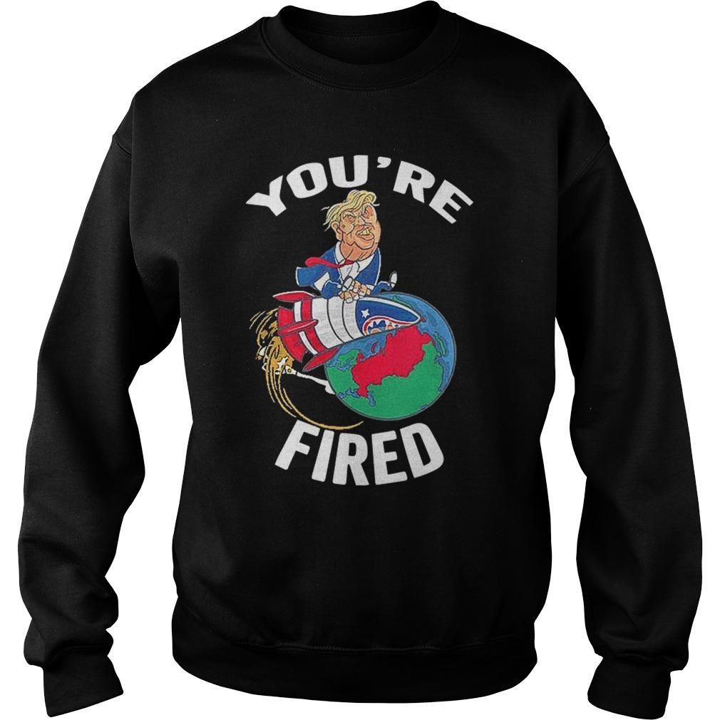 Trump Rocket Earth You're Fired Sweater