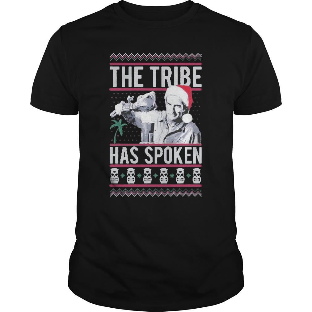 Ugly Christmas Giddy The Tribe Has Spoken Longsleeve