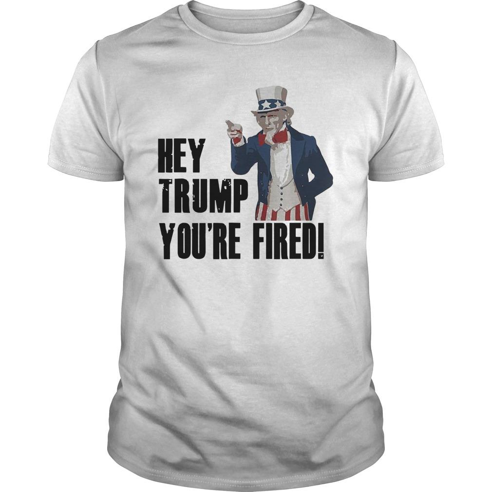 Uncle Sam Hey Trump You're Fired Longsleeve