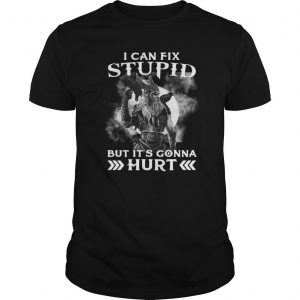 Viking I Can't Fix Stupid But It's Gonna Hurt Shirt