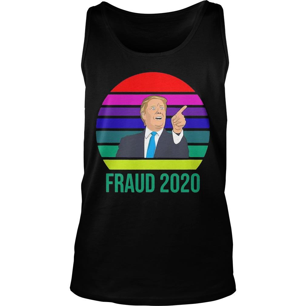 Vintage Donald Trump Fraud 2020 Tank Top