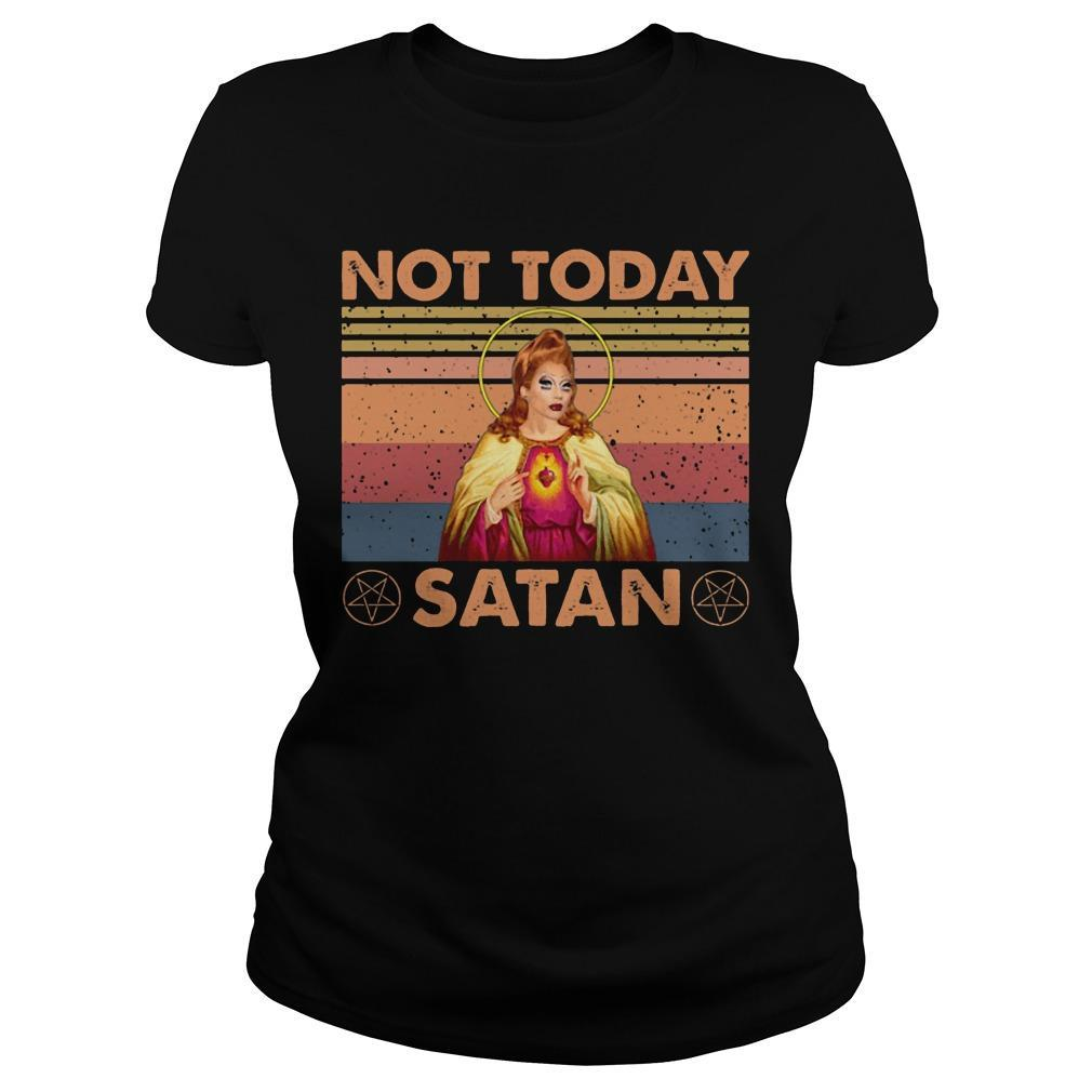 Vintage Not Today Satan Longsleeve