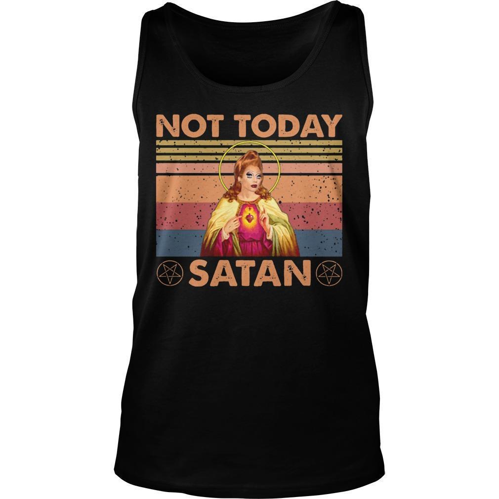 Vintage Not Today Satan Tank Top