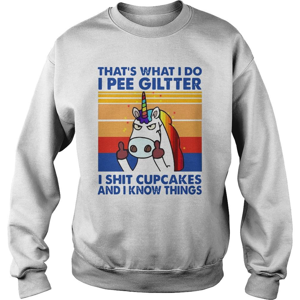 Vintage Unicorn That's What I Do I Pee Gilter I Shit Cupcakes Sweater