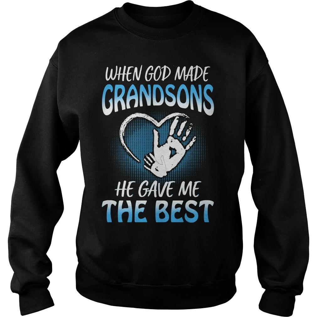 When God Made Grandsons He Gave Me The Best Sweater