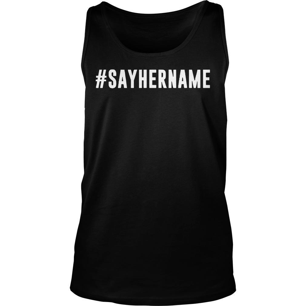 #sayhername Tank Top