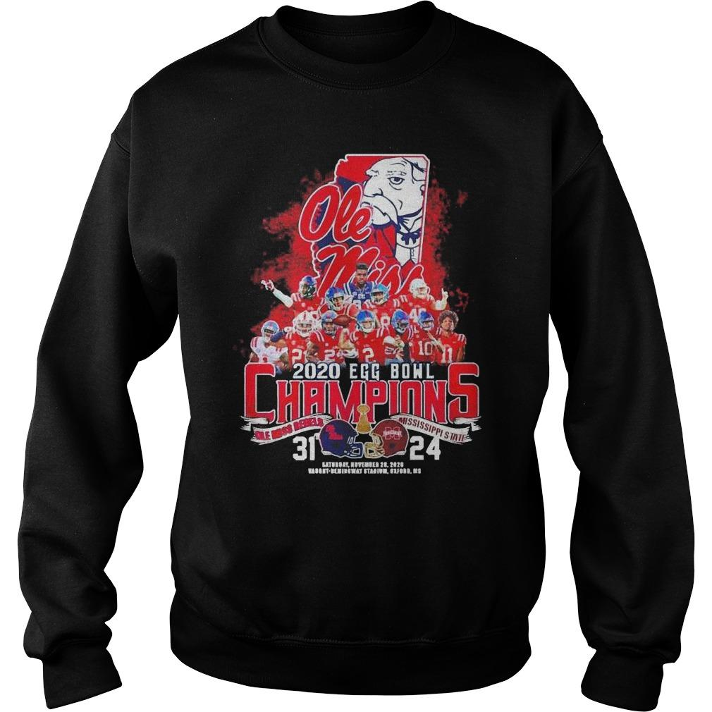 2020 Egg Bowl Champions Ole Miss Rebels Mississippi State 31 24 Sweater