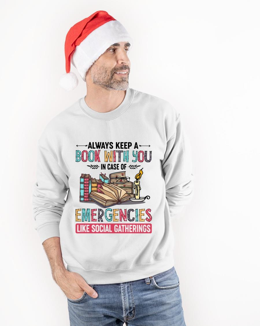 Always Keep A Book With You In Case Of Emergencies Like Social Gatherings Sweater