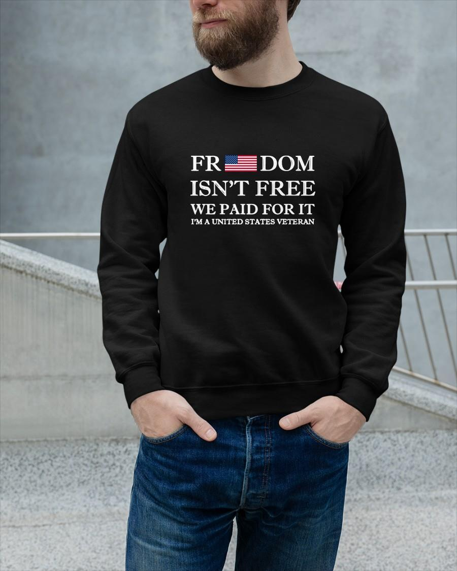 American Flag Freedom Isn't Free We Paid For It Tank Top