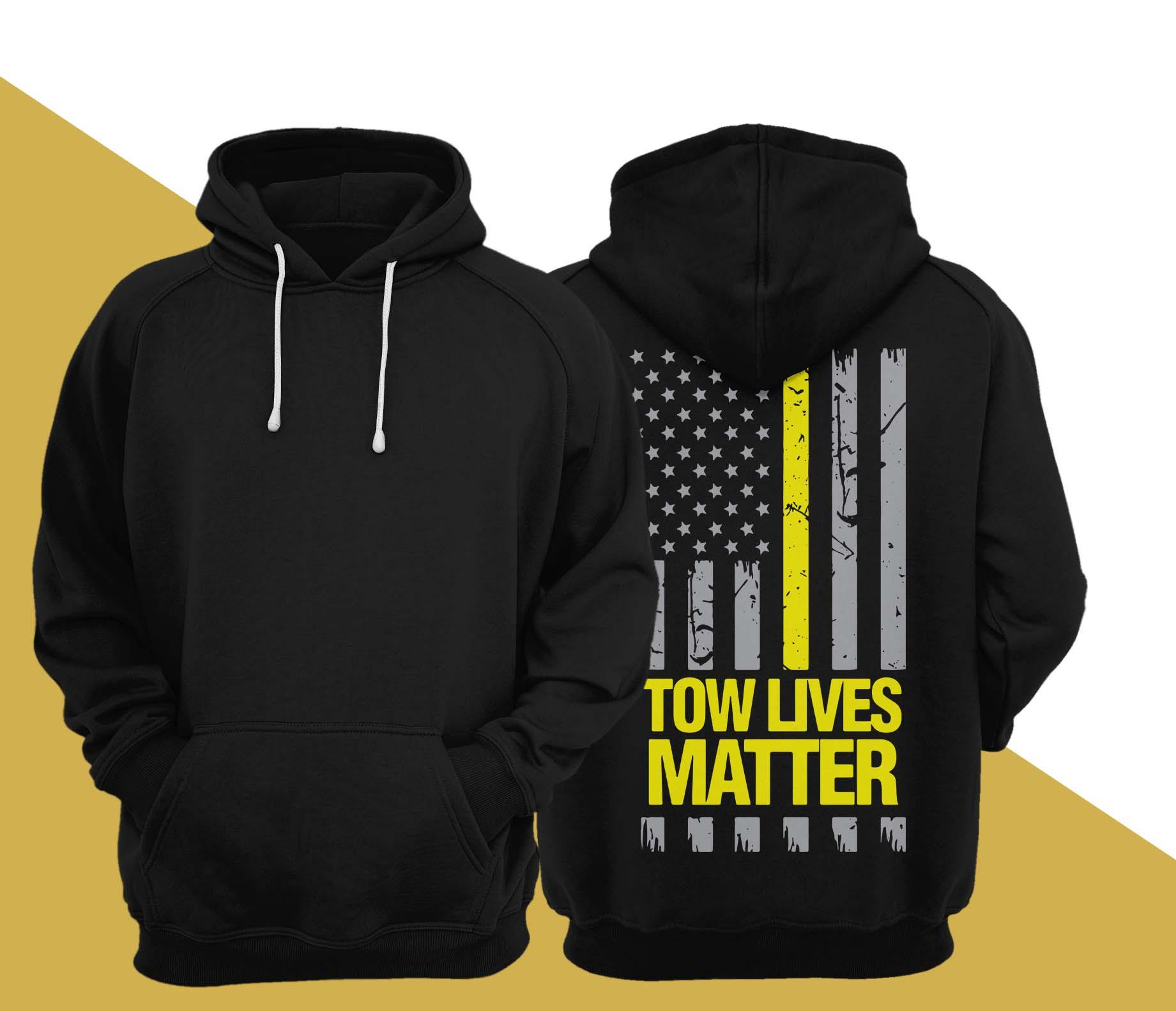 American Flag Tow Lives Matter Hoodie
