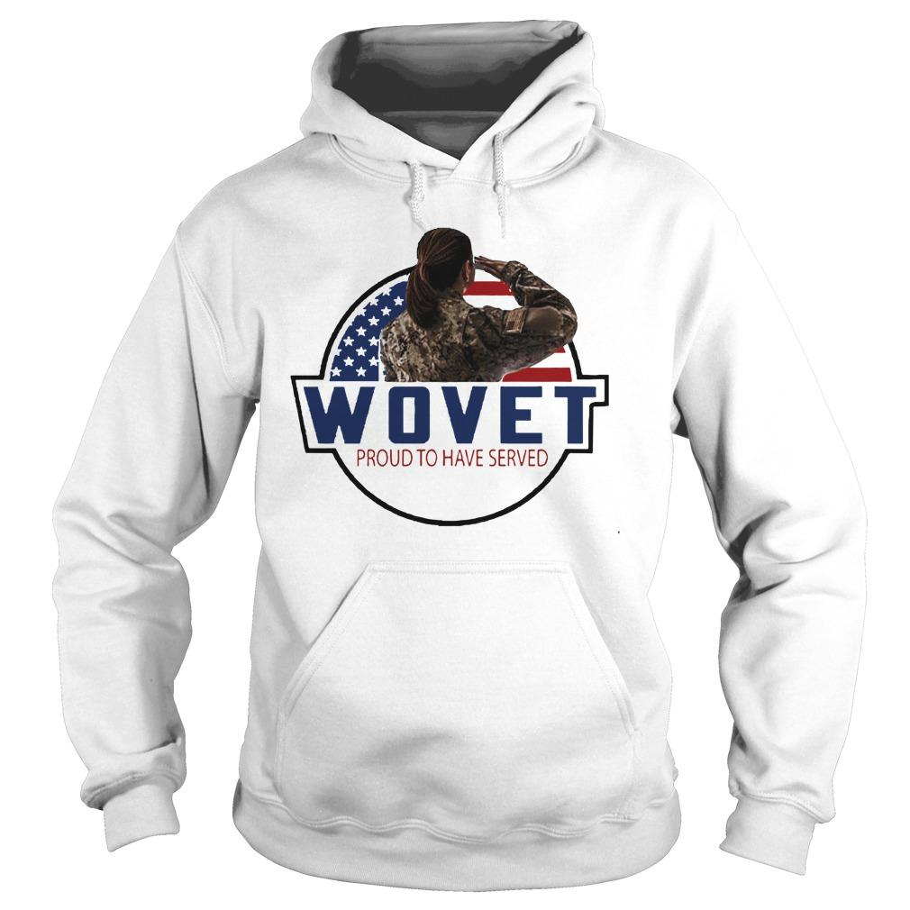 American Flag Wovet Proud To Have Served Hoodie