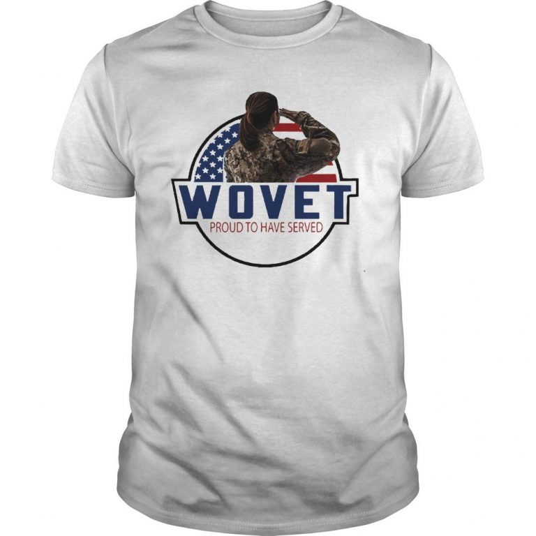 American Flag Wovet Proud To Have Served Shirt