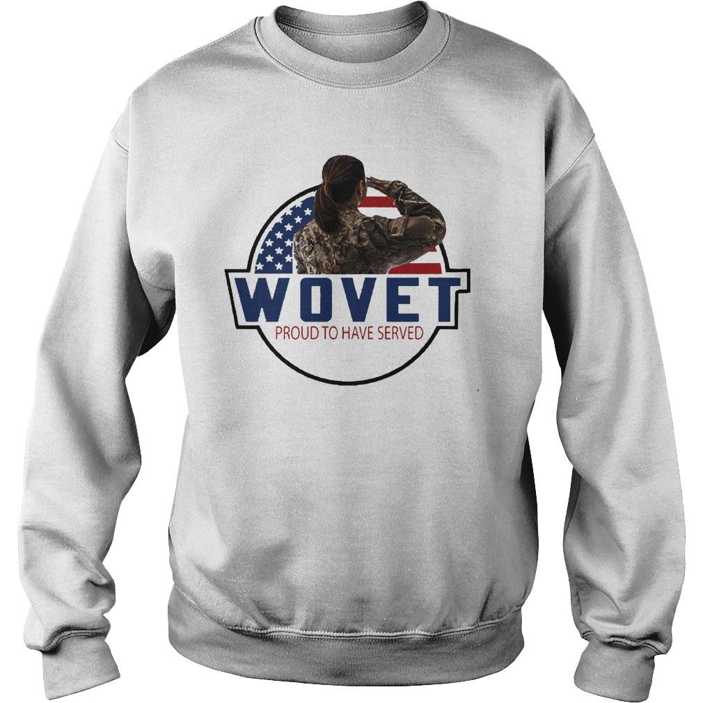 American Flag Wovet Proud To Have Served Sweater