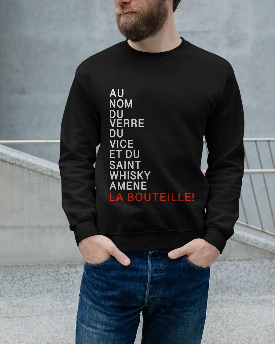 Au Nom Du Verre Du Vice Et Du Saint Whisky Amene La Bouteille Longsleeve