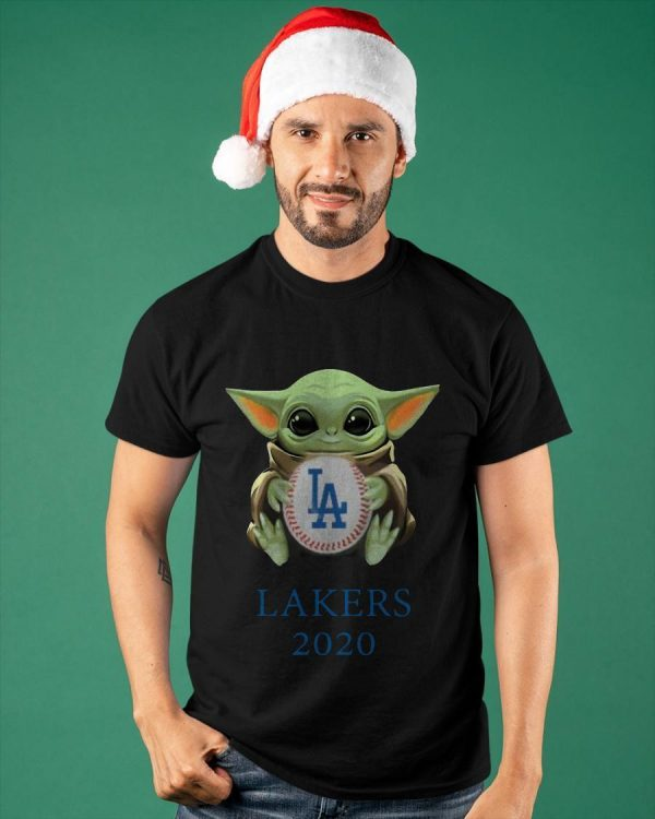 Baby Yoda Hug Los Angeles Lakers 2020 Shirt