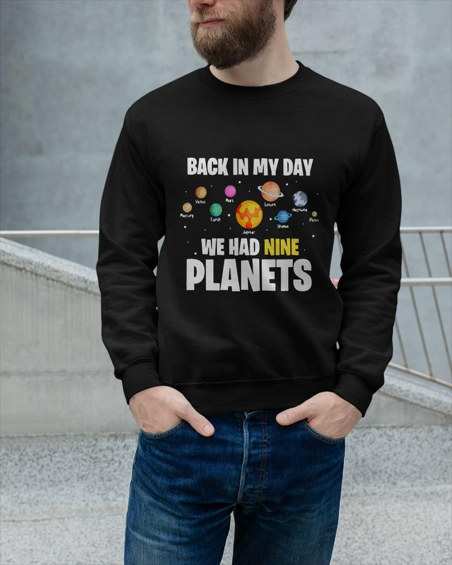 Back In My Day We Had Nine Planets Sweater