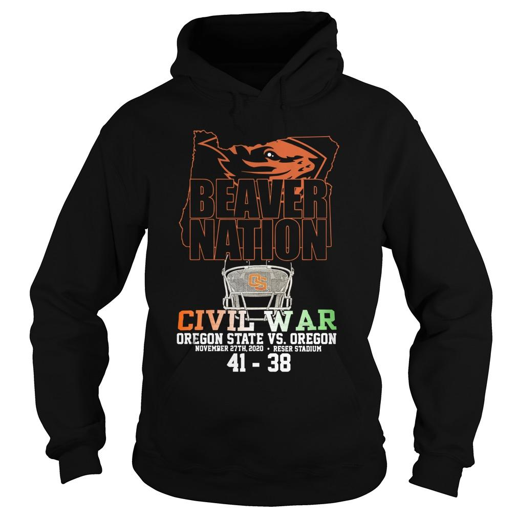 Beaver Nation Civil War Oregon State Vs Oregon Hoodie