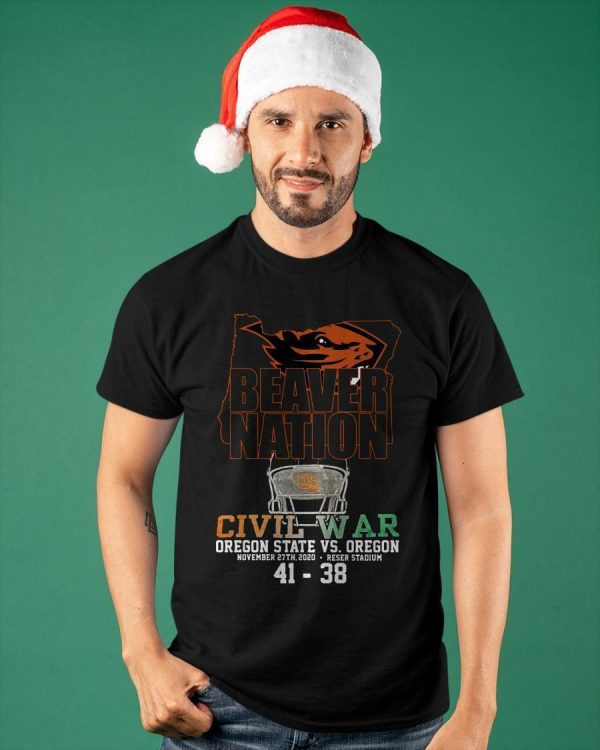 Beaver Nation Civil War Oregon State Vs Oregon Shirt