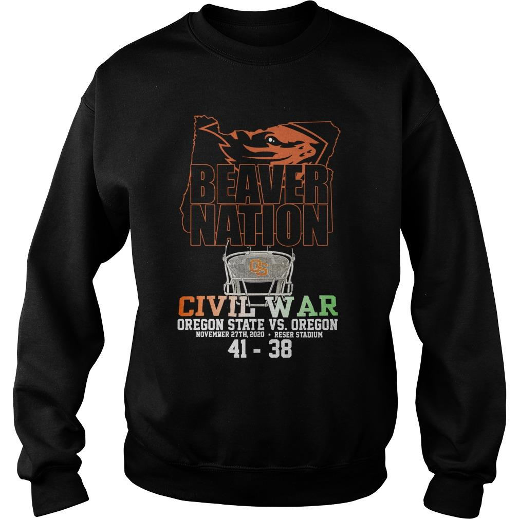 Beaver Nation Civil War Oregon State Vs Oregon Sweater