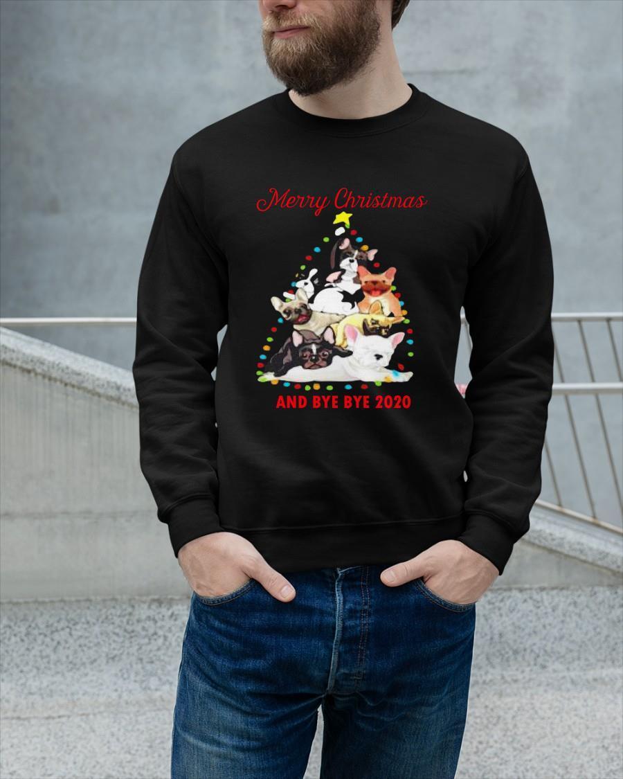 Bulldog Tree Merry Christmas And Bye Bye 2020 Longsleeve