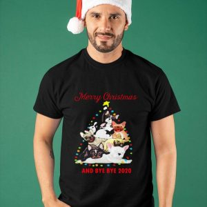 Bulldog Tree Merry Christmas And Bye Bye 2020 Shirt