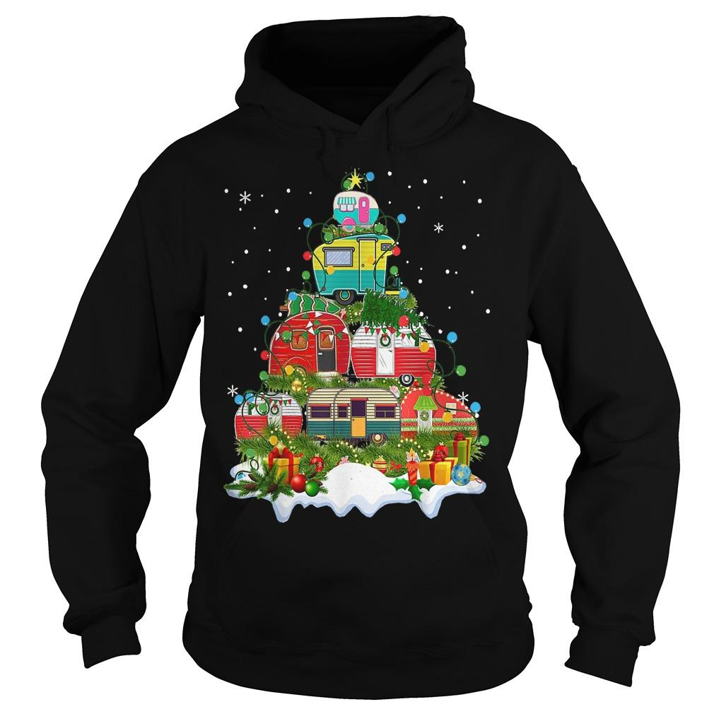 Camping Christmas Tree Hoodie