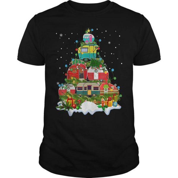 Camping Christmas Tree Shirt