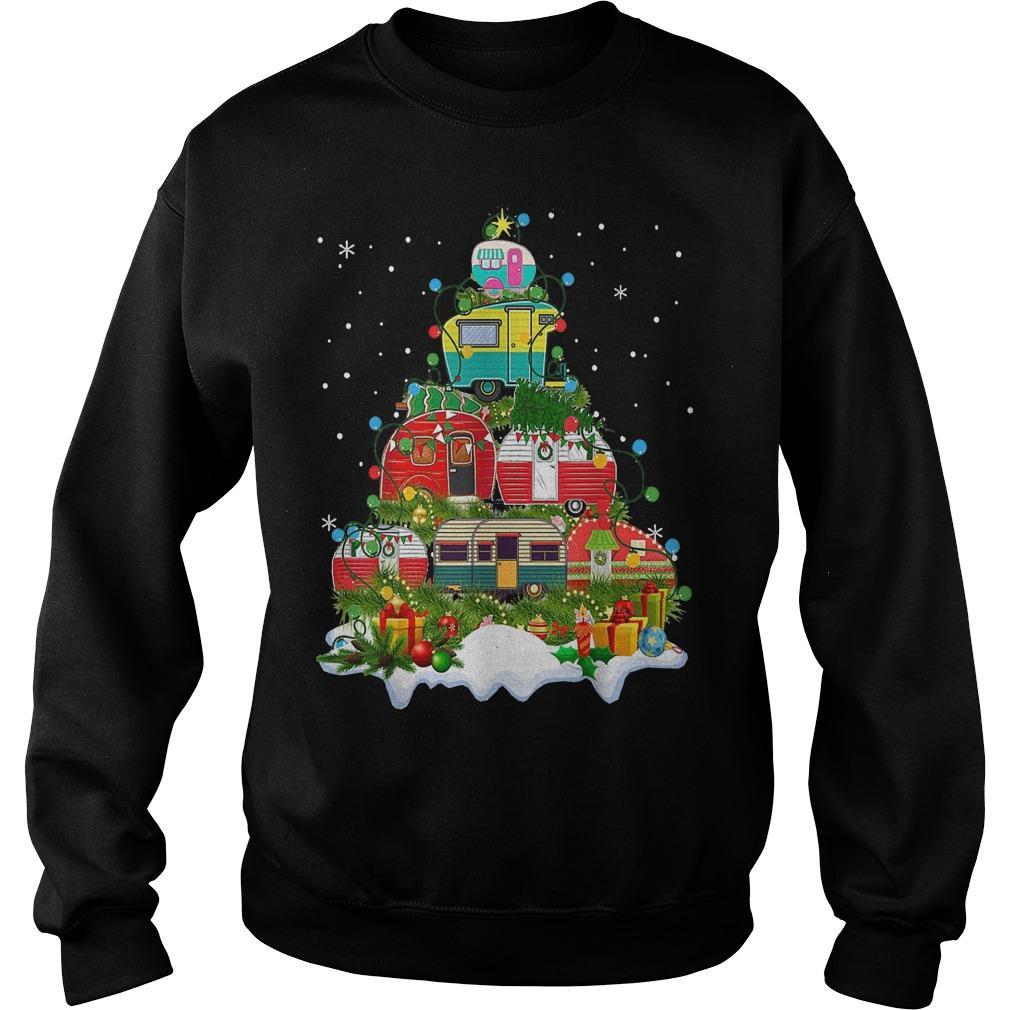 Camping Christmas Tree Sweater