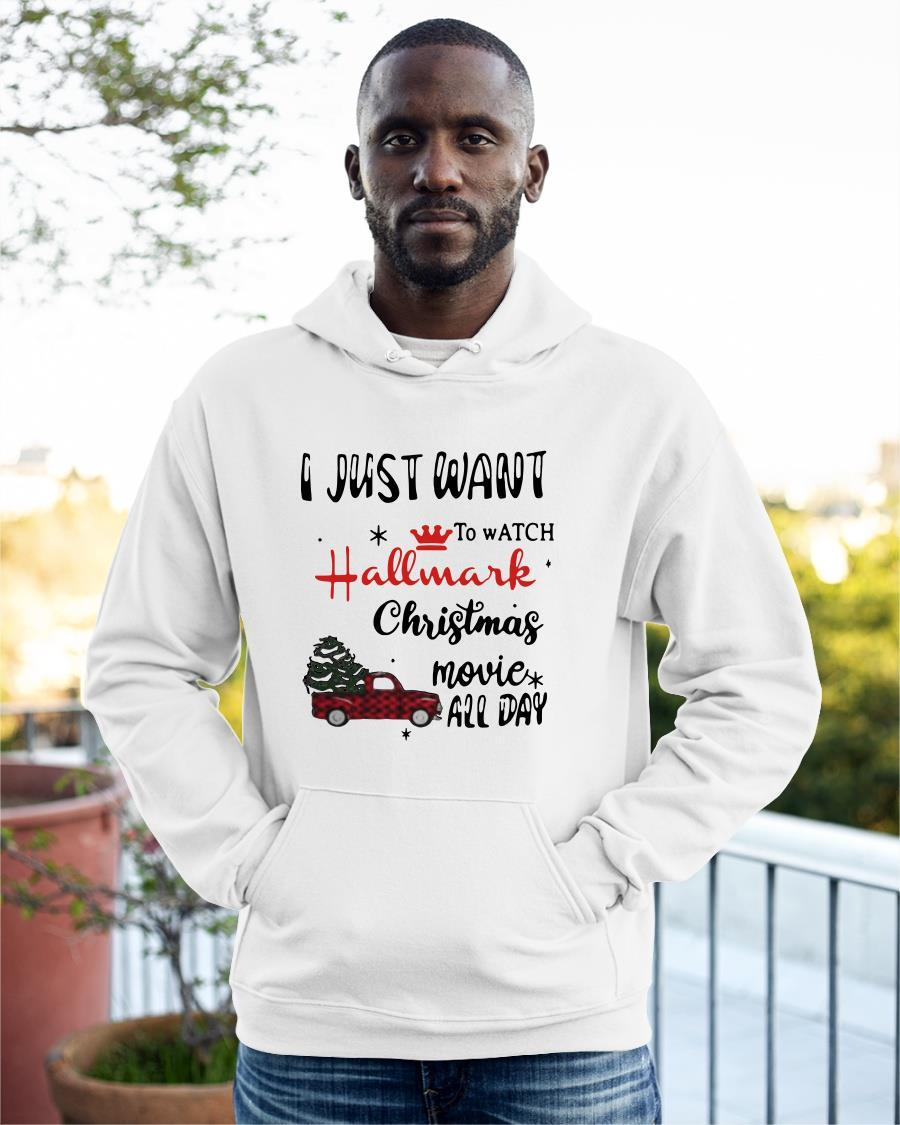 Car I Just Want To Watch Hallmark Christmas Movie All Day Hoodie