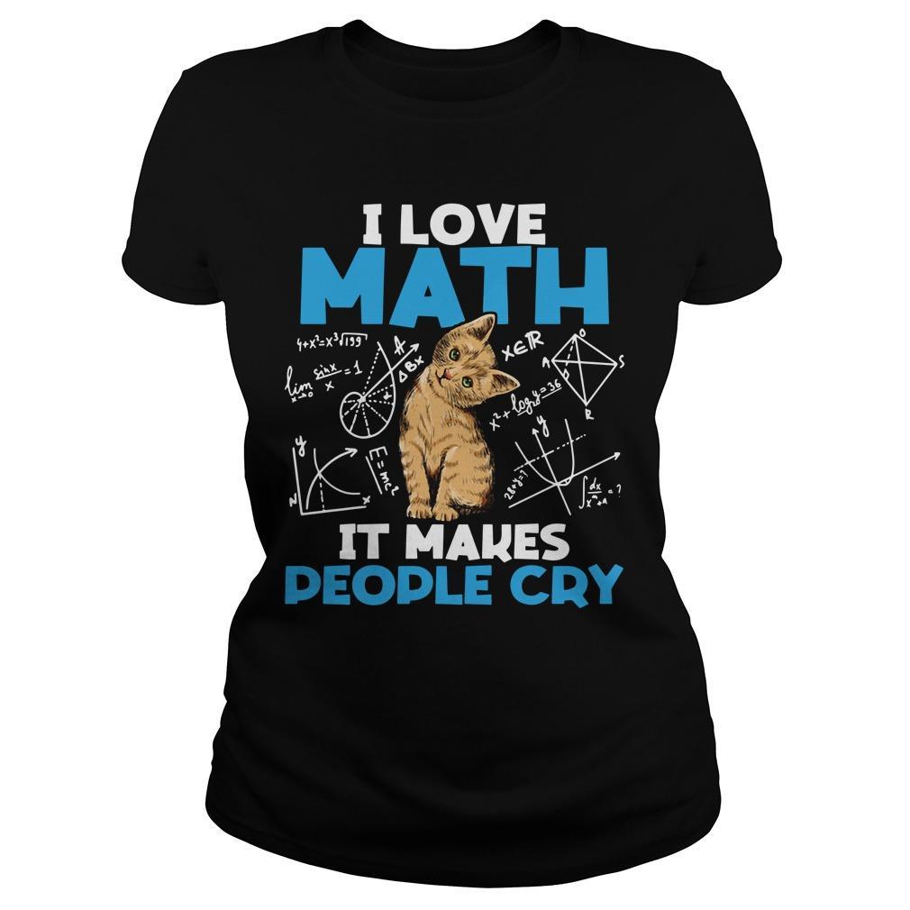 Cat I Love Math It Makes People Cry Longsleeve