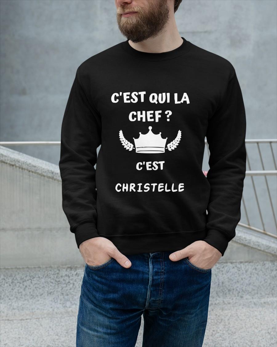 C'est Qui La Chef C'est Christelle Tank Top