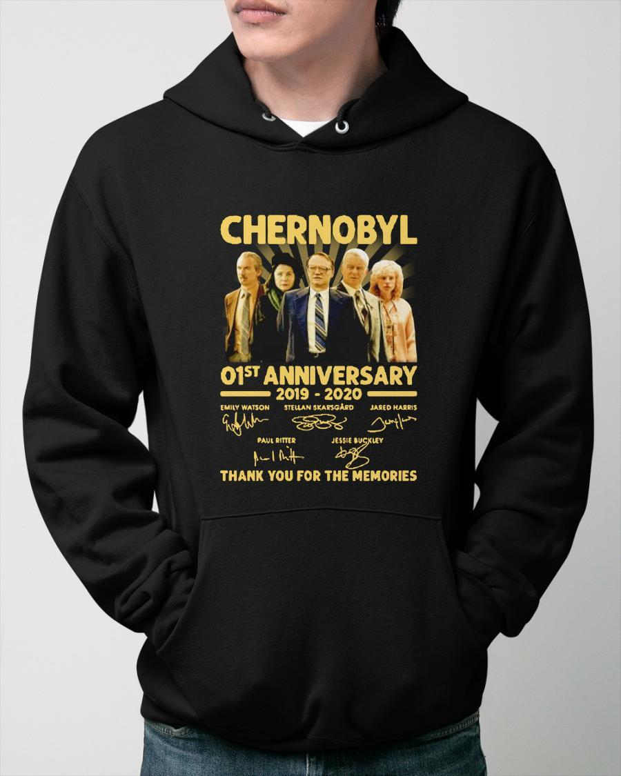 Chernobyl 01st Anniversary 2019 2020 Thank You For The Memories Signatures Hoodie