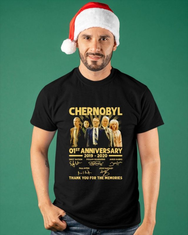 Chernobyl 01st Anniversary 2019 2020 Thank You For The Memories Signatures Shirt