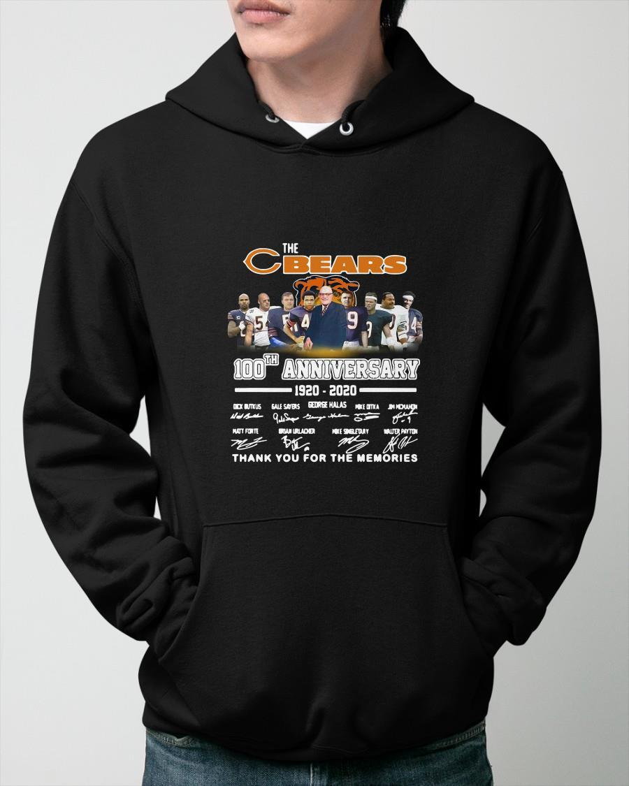 Chicago Bears 100th Anniversary Thank You For The Memories Hoodie