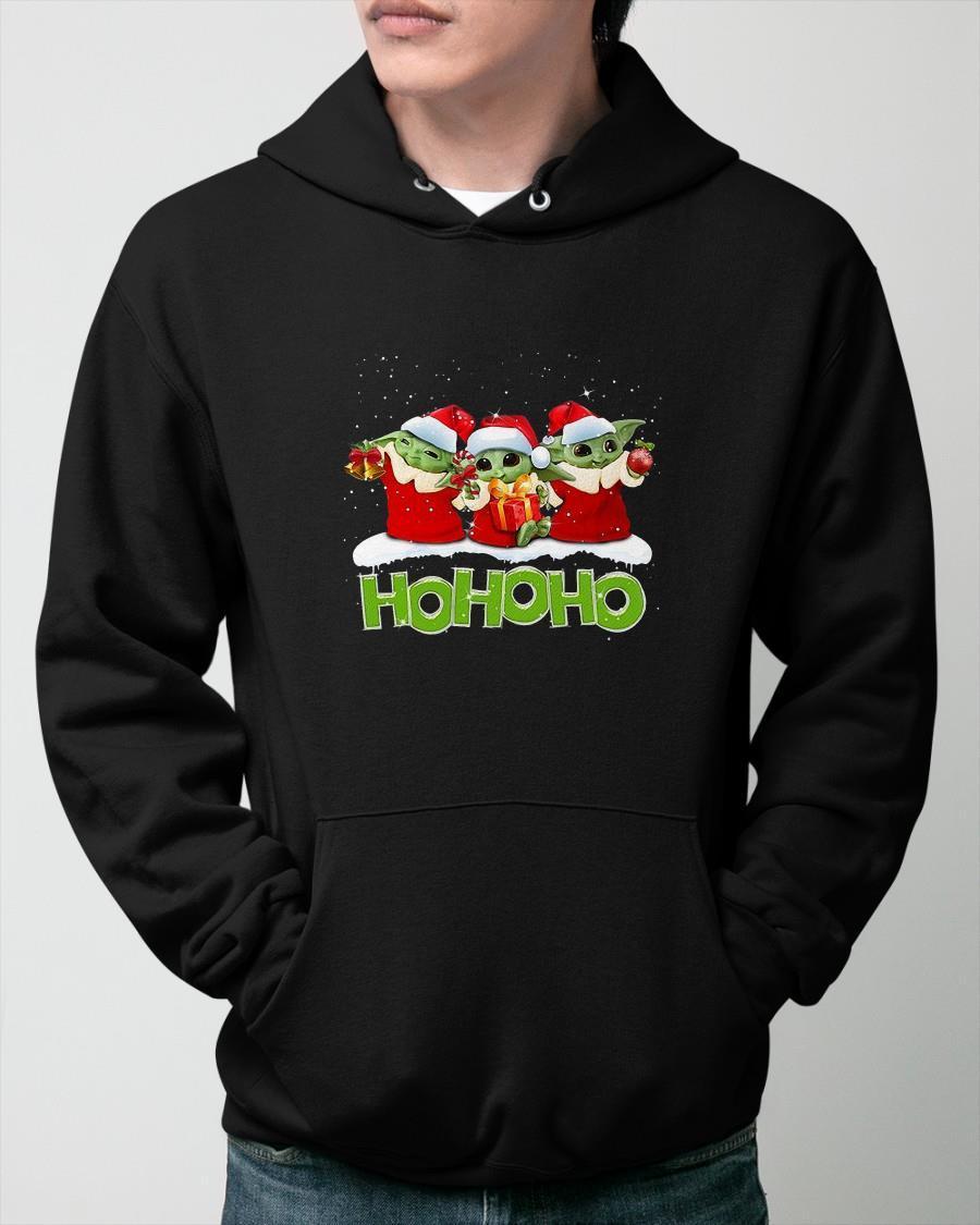 Christmas Baby Yoda Ho Ho Ho Hoodie