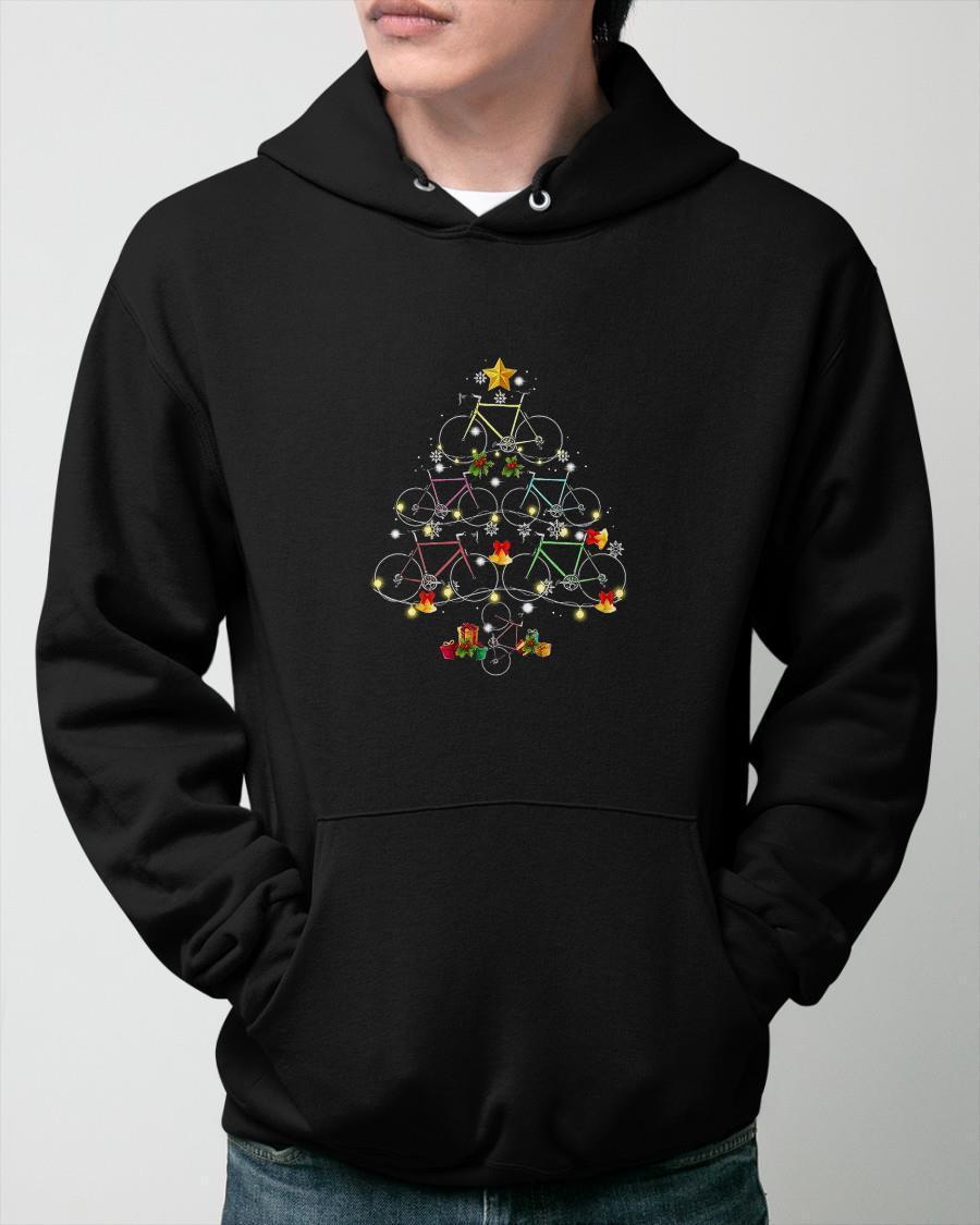 Christmas Bicycle Tree Hoodie