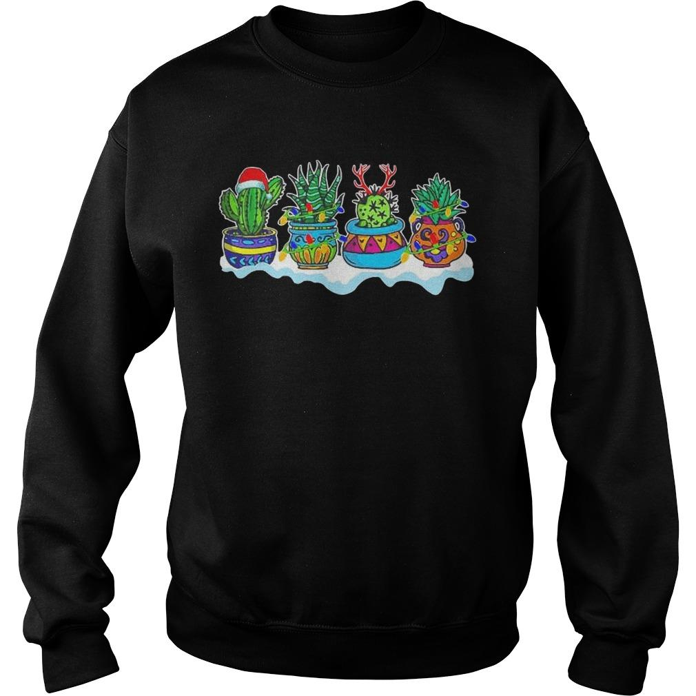 Christmas Cactus Succulents Gardening Sweater