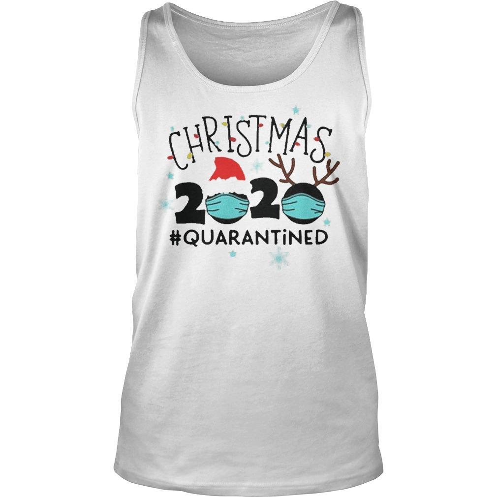Christmas Lights Christmas Quarantine Tank Top