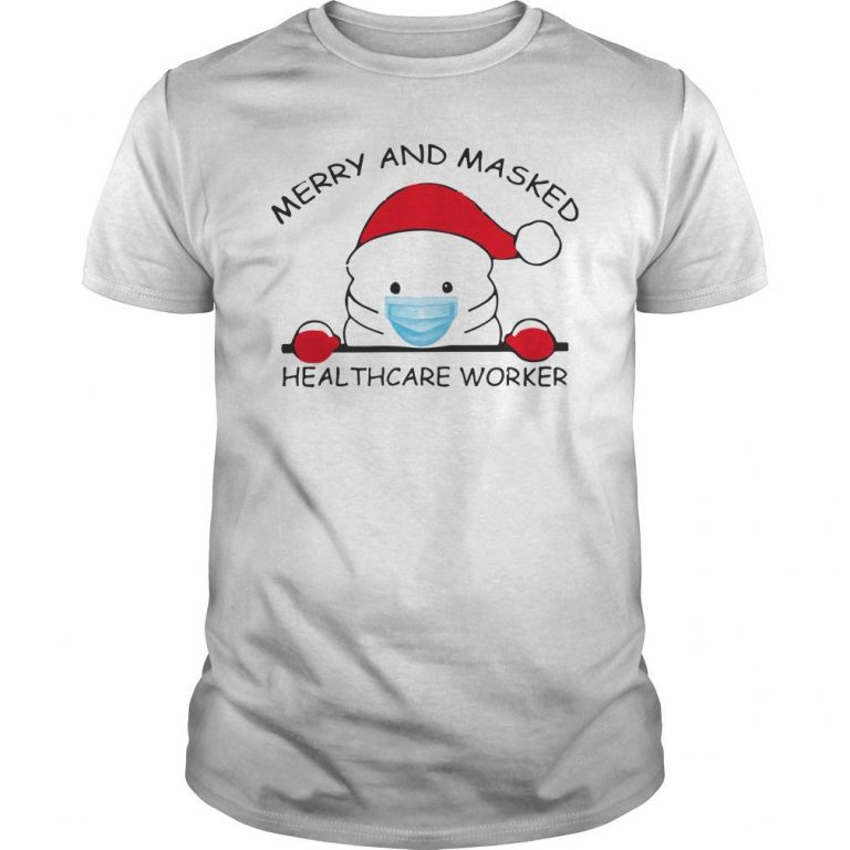 Christmas Merry And Masked Healthcare Worker Shirt