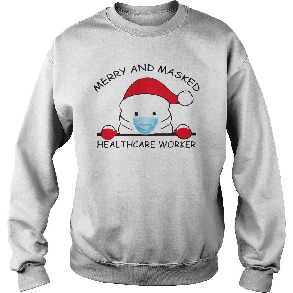Christmas Merry And Masked Healthcare Worker Sweater