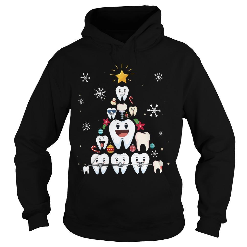 Christmas Teeth Tree Hoodie