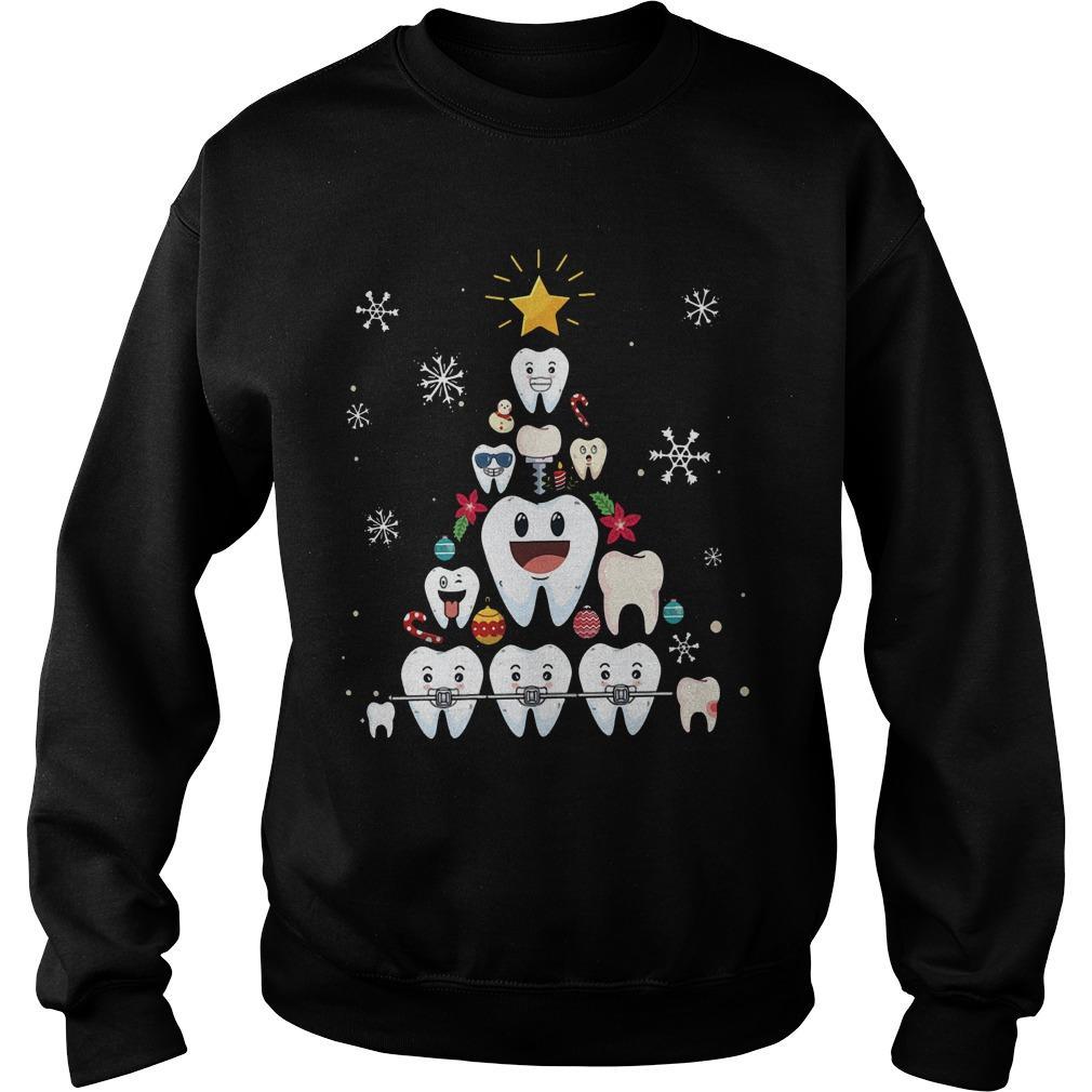 Christmas Teeth Tree Sweater