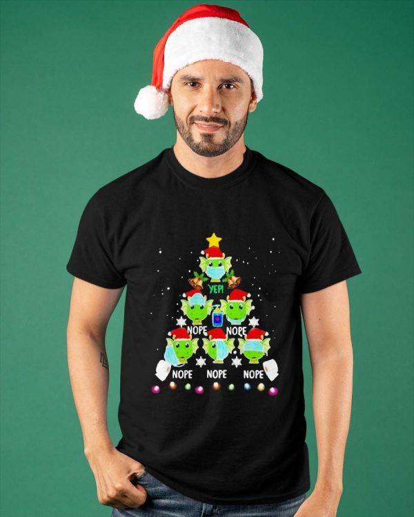 Christmas Tree 2020 Dragon Wearing Mask Toilet Paper Nope Shirt